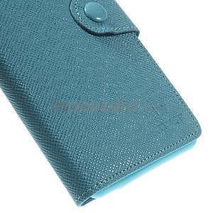 Tyrkysové peněženkové pouzdro na Sony Xperia Z3 - 7