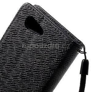 Černé peněženkové pouzdro na Sony Xperia Z3 Compact - 7