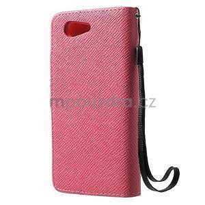 Rose peněženkové pouzdro na Sony Xperia Z3 Compact - 7