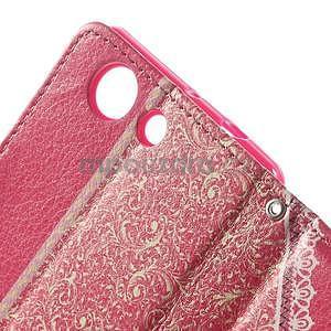 Zapinací pouzdro s mašličkou na Sony Xperia Z3 Compact - červené - 7