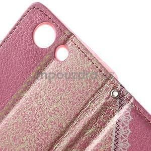 Zapínacie puzdro s mašličkou pre Sony Xperia Z3 Compact - ružové - 7