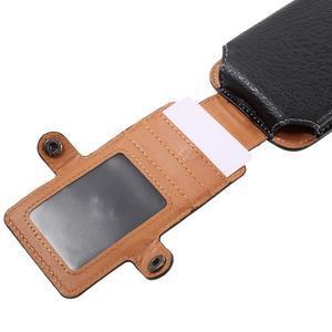 Cestovní PU kožené peňaženkové puzdro do rozmerov 150 x 73 x 15 mm - čierne - 7