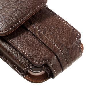Cestovní PU kožené peňaženkové puzdro do rozmerov 150 x 73 x 15 mm - coffee - 7