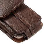 Cestovní PU kožené peňaženkové puzdro do rozmerov 150 x 73 x 15 mm - coffee - 7/7