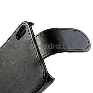 Flipové puzdro na Huawei Ascend P6 - čierné - 7