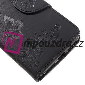 Butterfly PU kožené puzdro na mobil Huawei Y5 II - čierne - 7