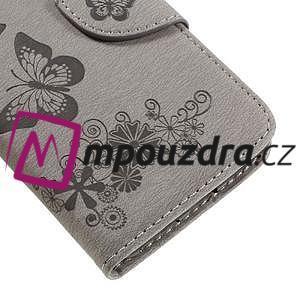 Butterfly PU kožené puzdro na mobil Huawei Y5 II - šedé - 7