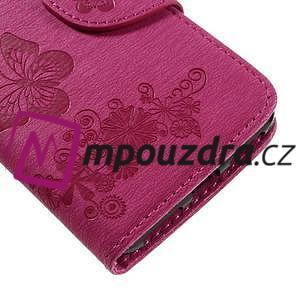 Butterfly PU kožené puzdro na mobil Huawei Y5 II - rose - 7