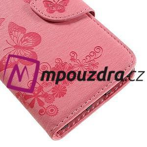 Butterfly PU kožené puzdro na mobil Huawei Y5 II - růžové - 7