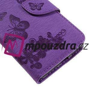 Butterfly PU kožené puzdro na mobil Huawei Y5 II - fialové - 7