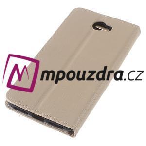 Clothy peněženkové puzdro na Huawei Y5 II - zlaté - 7