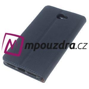 Clothy peněženkové puzdro na Huawei Y5 II - tmavěmodré - 7