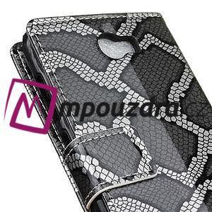 Pouzdro s hadím motivem na mobil Huawei Y5 II - stříbrné - 7