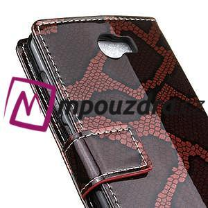 Pouzdro s hadím motivem na mobil Huawei Y5 II - červené - 7