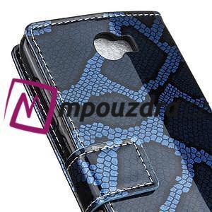 Pouzdro s hadím motivem na mobil Huawei Y5 II - modré - 7