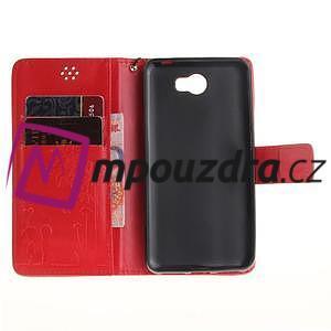 Dandelion PU kožené puzdro na Huawei Y5 II - červené - 7