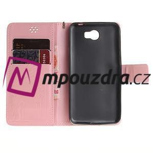Dandelion PU kožené puzdro na Huawei Y5 II - růžové - 7