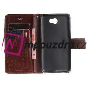 Dandelion PU kožené puzdro na Huawei Y5 II - hnědé - 7