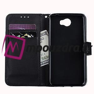Motýlí peněženkové puzdro na Huawei Y5 II - čierne - 7