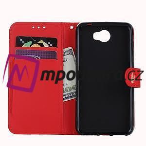 Motýlí peněženkové puzdro na Huawei Y5 II - červené - 7