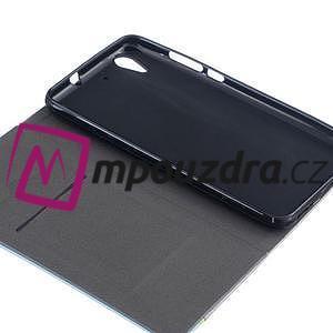 Klopové puzdro pre mobil Huawei Y6 II a Honor 5A - tmavomodré - 7