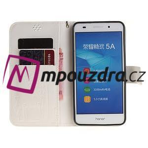 Dandelion PU kožené puzdro na Huawei Y6 II a Honor 5A - bílé - 7