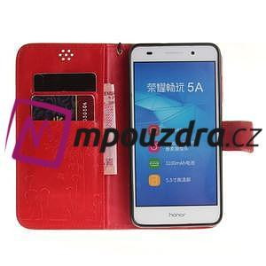 Dandelion PU kožené puzdro na Huawei Y6 II a Honor 5A - červené - 7