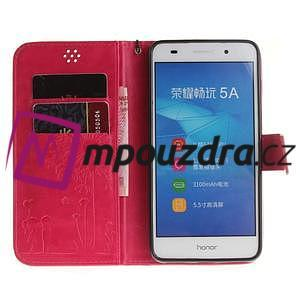 Dandelion PU kožené puzdro pre Huawei Y6 II a Honor 5A - rose - 7