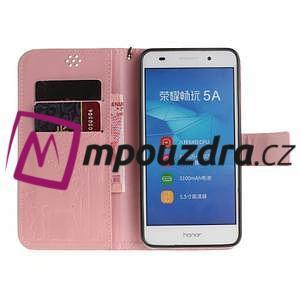 Dandelion PU kožené puzdro na Huawei Y6 II a Honor 5A - růžové - 7