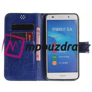 Dandelion PU kožené puzdro pre Huawei Y6 II a Honor 5A - modré - 7