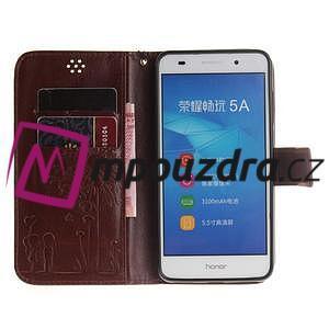 Dandelion PU kožené puzdro pre Huawei Y6 II a Honor 5A - hnedé - 7