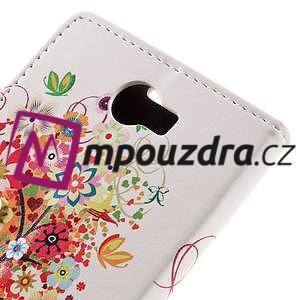 Emotive peněženkové pouzdro na Huawei Y6 II Compact - květinový strom - 7