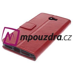 Horses PU kožené puzdro na Huawei Y6 II Compact - červené - 7