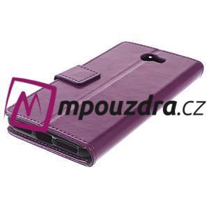 Horses PU kožené puzdro na Huawei Y6 II Compact - fialové - 7