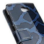 Peněženkové pouzdro s hadím motivem na Huawei Y6 II Compact - modré - 7/7