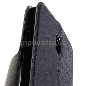 Flipové kožené puzdro na HTC Desire 500 - tmavě fialové - 7