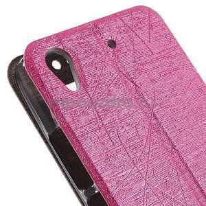puzdro s okýnky na Huawei Ascend G620s - růžové - 7