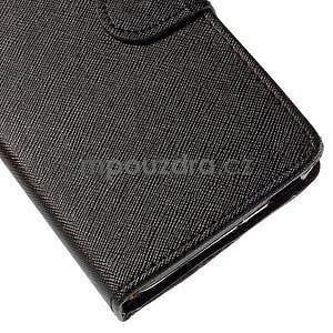 Peňaženkové puzdro na Huawei Ascend G620s - čierné - 7