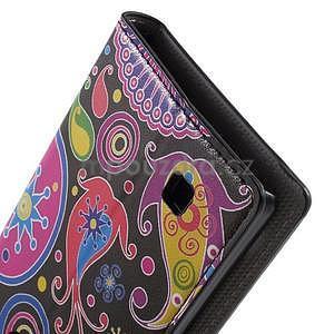 Pěněženkové puzdro na LG G4c H525n - farebné kruhy - 7