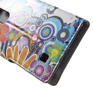 Pěněženkové puzdro na LG G4c H525n - farebné květiny - 7