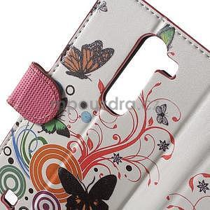 Pěněženkové puzdro na LG G4c H525n - motýlkové - 7
