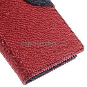Kožené peňaženkové puzdro na Nokia Lumia 830 - červené - 7