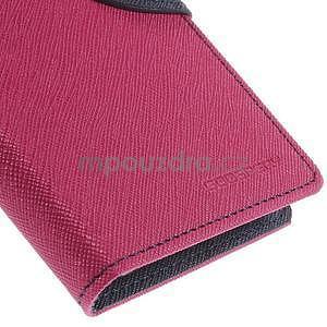 Kožené peňaženkové puzdro na Nokia Lumia 830 - rose - 7