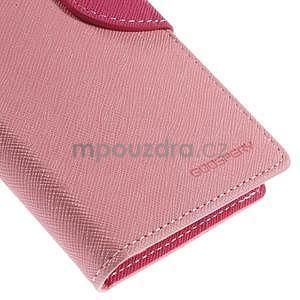 Kožené peňaženkové puzdro na Nokia Lumia 830 - růžové - 7