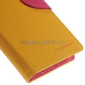 Kožené peňaženkové puzdro na Nokia Lumia 830 - žlté - 7