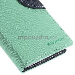 Kožené peňaženkové puzdro na Nokia Lumia 830 - azurové - 7