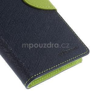 Kožené peňaženkové puzdro na Nokia Lumia 830 - tmavě modré - 7
