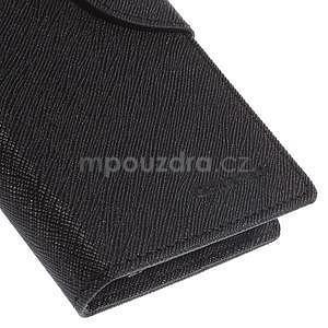Kožené peňaženkové puzdro na Nokia Lumia 830 - čierné - 7