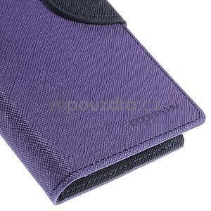Kožené peňaženkové puzdro na Nokia Lumia 830 - fialové - 7