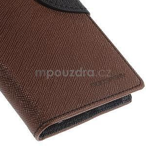 Kožené peňaženkové puzdro na Nokia Lumia 830 - hnedé/čierné - 7